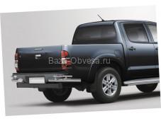 Защита заднего бампера уголки двойные D76-42 на Toyota Hilux до 2015г. выпуска