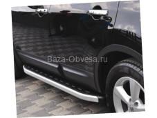 """Пороги NS001 NEW STAR """"Doga Fiber"""" на Toyota Hilux с 2011 до 2015г. выпуска"""