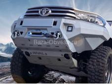 "Бампер передний усиленный ""RIVAL"" на Toyota Hilux с 2015г. выпуска"