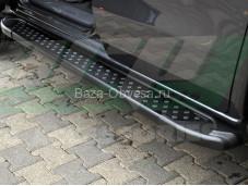 """Пороги AB005 ARTEMIS BLACK """"ARP"""" на Mercedes-Benz X-Class"""