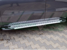 "Пороги AB004 ARTEMIS SILVER ""ARP"" на Mercedes-Benz X-Class"