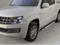 """Пороги алюминиевые VWAM.48.1017 """"Can Otomotiv"""" на Volkswagen Amarok"""