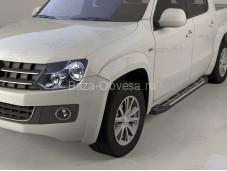 "Пороги алюминиевые Corund Silver ""Can Otomotiv"" на Volkswagen Amarok"