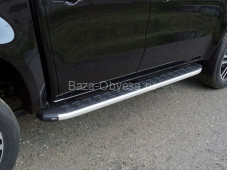 """Пороги алюминиевые MERXCL18-17AL """"TCC"""" на Mercedes-Benz X-Class"""