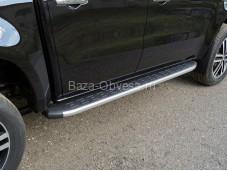 """Пороги алюминиевые MERXCL18-17SL """"TCC"""" на Mercedes-Benz X-Class"""