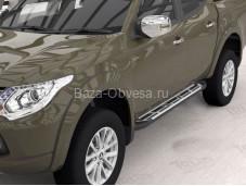 """Пороги Corund Silver """"Can Otomotiv"""" на Fiat Fullback с 2015г. выпуска"""