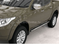 "Пороги Emerald Black ""Can Otomotiv"" на Fiat Fullback с 2015г. выпуска"