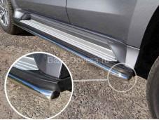 Защита порогов MITPASPOR16-13 Pajero Sport III с 2015г. выпуска