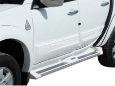 "Пороги алюминиевые ANATOLIA DIAMOND ""Voyager"" на Mitsubishi L200 с 2015г. выпуска"