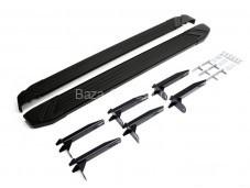 "Пороги алюминиевые Black A193ALB.5803.1 ""RIVAL"" на Volkswagen Amarok"