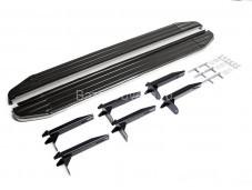 "Пороги алюминиевые Premium  A193ALP.5803.1 ""RIVAL"" на Volkswagen Amarok"