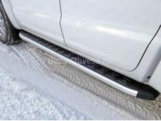 """Пороги алюминиевые VWAMAR17-31AL """"TCC"""" на Volkswagen Amarok"""