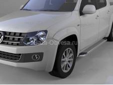 """Пороги алюминиевые Opal """"Can Otomotiv"""" на Volkswagen Amarok"""