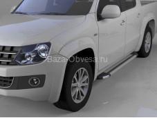 """Пороги алюминиевые Brillant """"Can Otomotiv"""" на Volkswagen Amarok"""