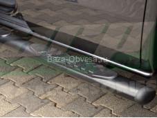 "Пороги овальные OV005 PREMIUM BLACK ""ARP"" на Mercedes-Benz X-Class"
