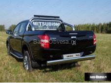 Защита задняя центральная 120х60 мм. для Fiat Fullback