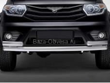 """Защита переднего бампера R.6302.005 """"RIVAL"""" на УАЗ"""