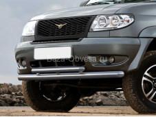 """Защита переднего бампера R.6301.003 """"RIVAL"""" на УАЗ"""