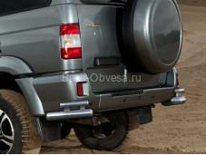 "Защита заднего бампера R.6301.008 ""RIVAL"" на УАЗ"