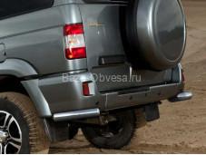 "Защита заднего бампера R.6301.009 ""RIVAL"" на УАЗ"