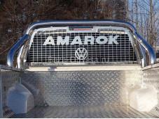 """Защитная дуга в кузов из нержавеющей стали VWAMAR17-14 """"TCC"""" на Volkswagen Amarok"""