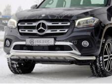 """Нержавеющая защита переднего бампера """"METEC"""" на Mercedes-Benz X-Class"""