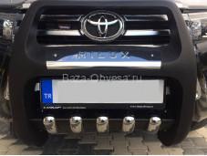"Полиуретановая защита переднего бампера QT002 PASIFIC ""ARP"" на Toyota Hilux с 2015г. выпуска"