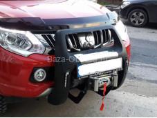 """Защита переднего бампера PASIFIC LED """"ARP"""" на Fiat Fullback с 2015г. выпуска"""