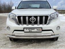 """Защита переднего бампера TOYLC15013-03 """"TCC"""" на Toyota Prado 150 с 2013г. выпуска"""
