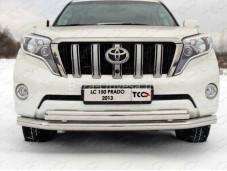 Защита переднего бампера TOYLC15013-01 на Toyota Prado 150 с 2013г. выпуска
