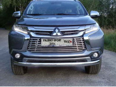 Защита переднего бампера MITPASPOR16-17 на Pajero Sport III с 2015г. выпуска