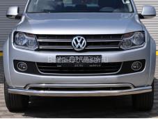 """Нержавеющая защита переднего бампера AM008039  """"ARP"""" на Volkswagen Amarok"""