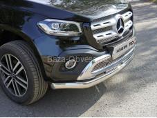 """Овальная защита переднего бампера MERXCL18-05 """"TCC"""" на Mercedes-Benz X-Class"""
