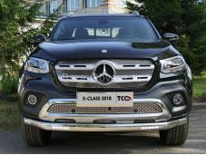 """Овальная защита переднего бампера MERXCL18-06 """"TCC"""" на Mercedes-Benz X-Class"""