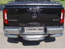"Защита заднего бампера MERXCL18-20 ""TCC"" на Mercedes-Benz X-Class"