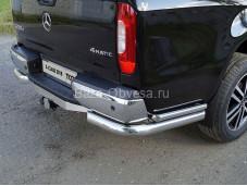 """Защита заднего бампера уголки MERXCL18-21 """"TCC"""" на Mercedes-Benz X-Class"""