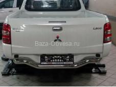 """Защита заднего бампера MIL2.55.6030 """"Can Otomotiv"""" на Mitsubishi L200 с 2015г. выпуска"""