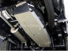 """Алюминиевая защита топливного бака """"ТСС"""" на Volkswagen Amarok"""