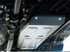 """Алюминиевая защита топливного бака 4мм. """"RIVAL"""" на Toyota Hilux с 2015г. выпуска"""