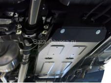 """Стальная защита топливного бака """"RIVAL"""" на Toyota Hilux с 2015г. выпуска"""