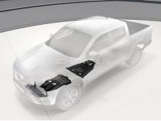 Оригинальная защита картера двигателя, радиатора, КПП и РК на Mercedes-Benz X-Class