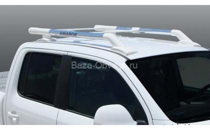 """Алюминиевые рейлинги """"Maxport chrome"""" для Volkswagen Amarok"""