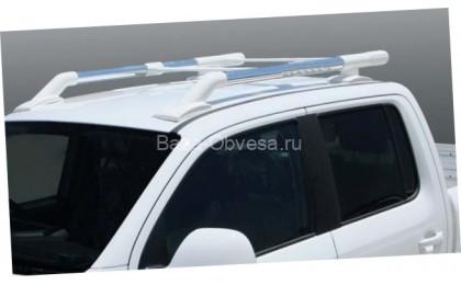 "Алюминиевые рейлинги ""Maxport white/chrome"" для Nissan Navara"