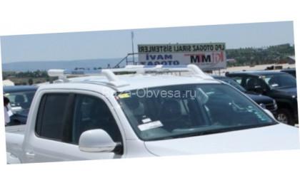 "Алюминиевые рейлинги ""Maxport white/chrome"" для Nissan NP300"