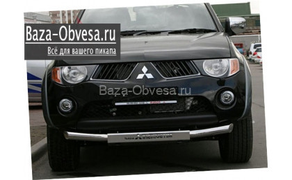 Защита переднего бампера  для Mitsubishi L200 до 2014г. выпуска