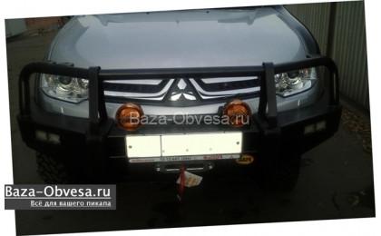 """Бампер передний усиленный """"Piak"""" на Mitsubishi L200 Triton до 2015г. выпуска"""