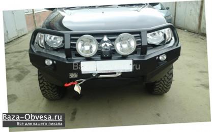 "Бампер передний усиленный ""DDR"" на Mitsubishi L200 с 2006 до 2013г. выпуска"