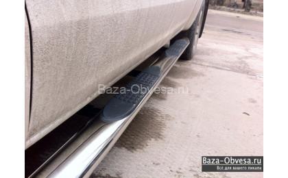 Пороги стальные овальные для Volkswagen Amarok