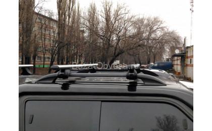 Алюминиевые поперечины на рейлинги для Toyota Hilux с 2015г. выпуска