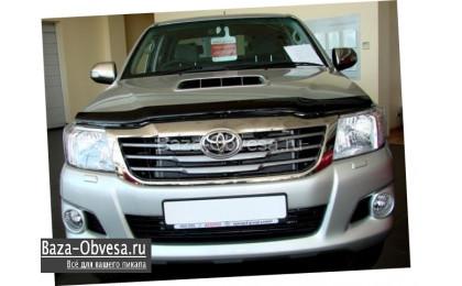 Дефлекторы передних фар для Toyota Hilux до 2014г. выпуска